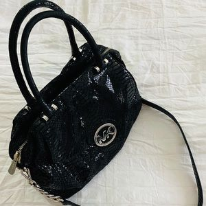 Michael Kors Black Python Black Bag